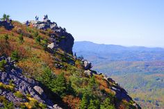 The amazing view from Grandfather Mountain along the Blue Ridge Parkway in North Carolina