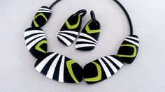 polymer clay necklace | I made this necklace for Bettina Wel… | Flickr