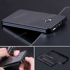 Luxury case For HTC M7 Case Luxury Aluminum Metal Housing Bumper case with Carbon Fiber Material Panel Cover For HTC ONE M7 $22.55