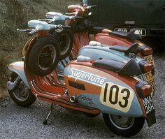 Drive a P, but dream of a GP Scooters Vespa, Lambretta Scooter, Scooter Motorcycle, Retro Motorcycle, Motor Scooters, Vintage Bikes, Vintage Motorcycles, Fiat 500, Retro Roller