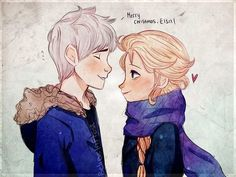 Jack and Elsa - Jelsa #disney
