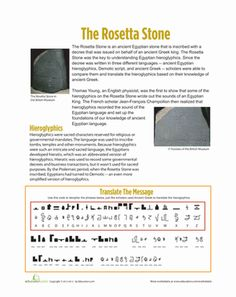 Esl Vocab Worksheets Make A Mummy  Worksheets Social Studies And Homeschool Time For Kids Worksheets Excel with Calculating Area And Perimeter Worksheet Answers Word This Worksheet Teaches About The History Of The Rosetta Stone And The  Impact That It Had Rocket Math Worksheets Addition Word