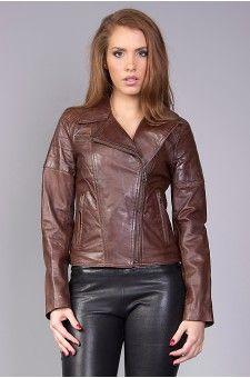 Blouson cuir femme 50