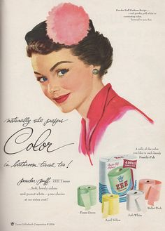 vintage toilet paper ads