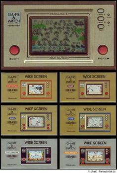 Nintendo handheld games from the 80s