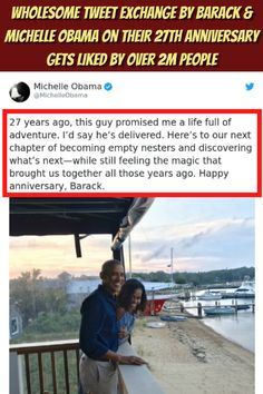 Wholesome Tweet Exchange By Barack & Michelle Obama On Their 27th Anniversary Gets Liked By Over 2M People