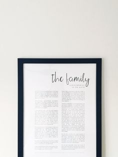The Family: A Proclamation to the World - Modern LDS Print SoBleak Design