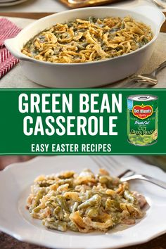 This Easter, gather everyone around for a timeless classic. Our Green Bean Casserole recipe can be made with your favorite cut of canned Del Monte® green beans in minutes, and is a great side dish for any holiday meal. cooking for two recipes Green Bean Casserole Bacon, Homemade Green Bean Casserole, Classic Green Bean Casserole, Campbells Green Bean Casserole, Del Monte Green Bean Casserole Recipe, Canned Green Bean Recipes, Chicken Casserole, Greenbean Casserole Recipe, Easy Casserole Recipes