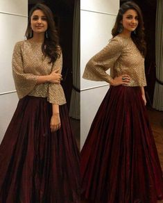 Rate her look 👉 🔟. Parineeti Chopra in Manisha Malhotra for Bachchan's Diwali Bash tonight 💕 😍. Indian Attire, Indian Wear, Indian Outfits, Bride Indian, Moda Indiana, Mode Hijab, Pakistani Dresses, Party Wear Indian Dresses, Bridal Anarkali Suits