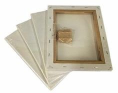 """Lot 4 BLANK ARTIST CANVAS 24x36"""" Framed Pre-Stretched Cotton Painting Set/Pack"""