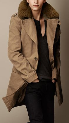 Shearling Collar Heritage Trench Coat | Burberry | Hott www.bedtimetoys.ca