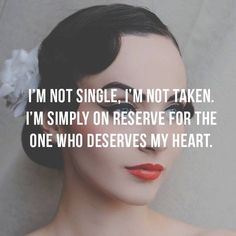 Always stay reserved