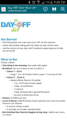 Dr.Oz Day Off Diet                                                                                                                                                                                 More