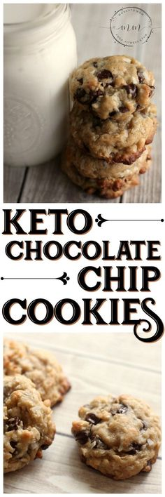 This Keto Chocolate Chip Cookies Recipe will satisfy your sweet tooth without going over your macros! Add in coconut and walnuts for even more flavor and fat! #keto #ketorecipes #ketocookies