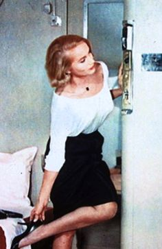 """""""North By Northwest"""", Eva Marie Saint as Eve Kendall..."""