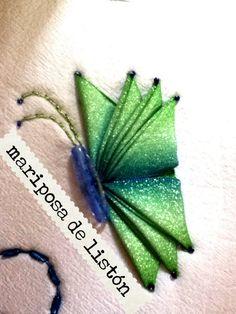 DIY como hacer mariposa de listón para jugos de baño bolsas Butterfly li...