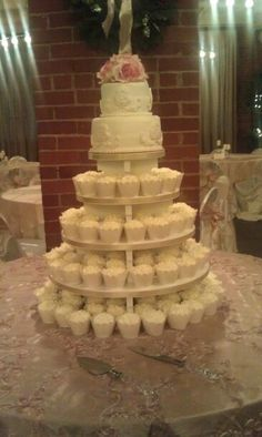 Another cupcake wedding cake