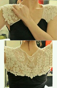 Add lace to tank top for more bra strap coverage?
