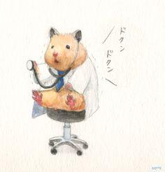 Cute Animal Drawings, Cute Animal Pictures, Cute Drawings, Cute Wallpaper Backgrounds, Cute Wallpapers, Pretty Art, Cute Art, Japanese Hamster, Hamster Live