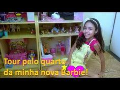Tour pelo quarto da minha nova Barbie - YouTube
