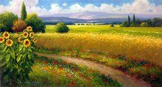 gerhard-nesvadba-sunflowers-and-wheatfields-in-harmony-2.jpg (976×529)