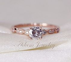 Fancy VS Moissanite Ring VS ... from AdamJewelry on Wanelo