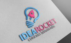 Idea Rocket /Logo Template by Josuf Media on @creativemarket