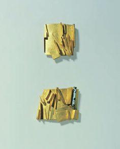 1 Hermann Jünger, Broschen, 1996, Gold 850, Brooches, 1996, gold 850, enamel