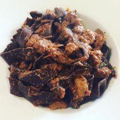 #pappardelle #fatteamano al #cacao con #ragout di #cinghiale #tuscany #valdorcia #sanquiricodorcia