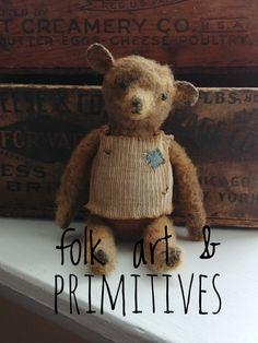 Dont Feed The Bears, Teddy Bear Names, Charlie Bears, Cute Stuffed Animals, Vintage Teddy Bears, Love Bear, Primitive Folk Art, Bear Doll, Felt Dolls