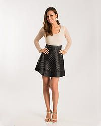 Chanel inspired lace and faux leather dress! Only $68!!