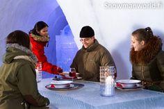Ice Restaurant of the Snowman World in Santa Claus Village Rovaniemi in Lapland