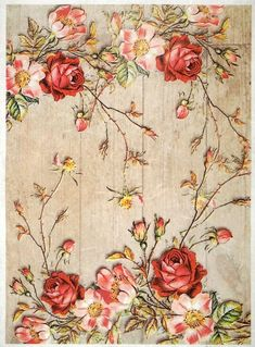 GBP - Rice Paper -Similar Roses On A Wooden Floor- For Decoupage Scrapbooking Sheet & Garden Paper Napkins For Decoupage, Tissue Paper Crafts, Decoupage Printables, Flora Flowers, Flower Wallpaper, Types Of Art, Collage Sheet, Pattern Paper, Background Patterns