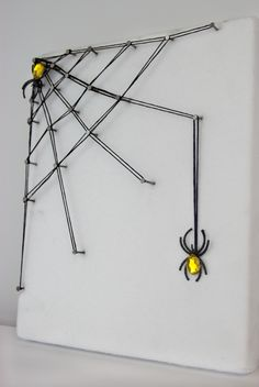 DIY String Art Spider Web