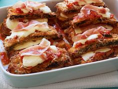 Zucchini Parmesan : The red-sauce favorite may typically be made with veal, chicken or eggplant, but Food Network Magazine reinvented it using zucchini instead. It's still breaded and smothered with sauce and cheese like the classic, but thin slices of prosciutto add a satisfying saltiness to the mix.