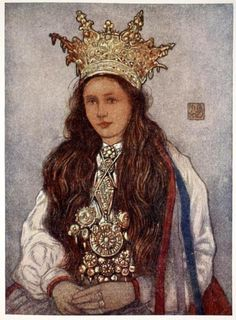 A Hardanger Bride, Nico Jungman. (Norway) My maternal grandmother came from the Hardanger area. Lausanne, Folk Costume, Costumes, Norway Viking, Bridal Crown, Ice Queen, Tiaras And Crowns, Traditional Dresses, Portrait