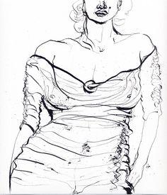 Marilyn, im Negligee