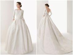 Vestidos de novias de manga larga para 2014 de diseñadores españoles