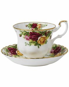 """Some of you have to get in on this: Royal Albert by Royal Doulton  """"Old Country Roses"""" 2pc Teacup & Saucer Set"""