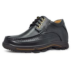 Black  mens shoe lift inserts 8cm / 3.15inch with the SKU:MENJGL_B771_1 - Black men height increase casual shoes become taller 8cm / 3.15inches