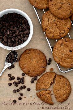 Orkiszowe ciasteczka z kawałkami czekolady