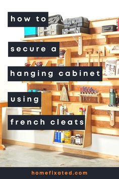 Learn how to use french cleats in your home improvement. A great DIY project for your home. #homefixated Towel Rack Bathroom, Bathroom Hardware, Wall Decor Crafts, Military Housing, Hanging Cabinet, French Cleat, Towel Warmer, Home Decor Inspiration, Decor Ideas