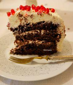 cake al doppio cioccolato con ricotta e melagrana