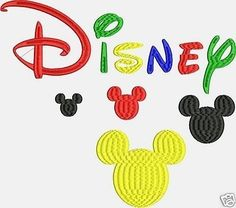 SALE INSTANT DOWNLOAD  Embroidery Machine Designs Disney Font  2 sizes fun children set Pes format only
