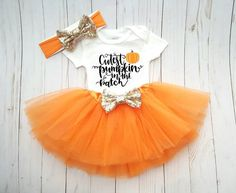 First Halloween Tutu Pumpkin Patch Outfit, Hello Pumpkin, Pumpkin Outfit Fall Thanksgiving Tutu, Baby Girl Hocus Pocus Photo Outfit Happy Halloween, Baby Girl Halloween, First Halloween, Baby Halloween Costumes, Baby Pumpkin Costume, Fall Halloween, Baby Girl Thanksgiving Outfit, Thanksgiving Baby Outfits, Babys First Thanksgiving