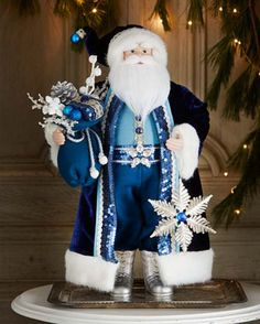 Most Fabulous Blue Christmas Decorating Ideas Christmas Celebrations Blue Christmas Decor, Merry Christmas To All, Silver Christmas, Father Christmas, Christmas Colors, Christmas Themes, All Things Christmas, Vintage Christmas, Christmas Holidays