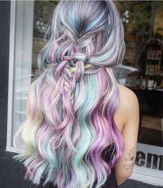 28 Rainbow hair colors ideas | Pinterest | Curly, Rainbows and Hair ...