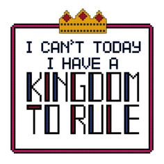 Kingdom To Rule Cross Stitch Pattern PDF by CoolLittleSpear