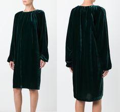 Rochas Velvet Effect Dress
