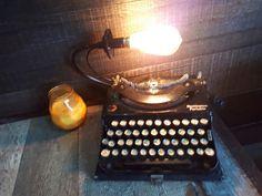 Vintage typewriter lamp by Vintage Typewriters, Industrial Lighting, Lights, Typewriters, Lighting, Rope Lighting, Candles, Lanterns, Lamps